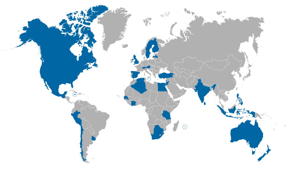 GLF Members by Countries